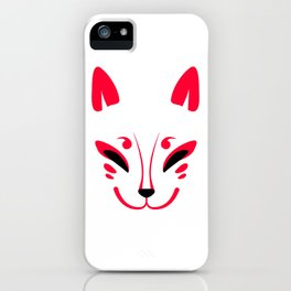 Japanese fox mask Kitsune iPhone Case