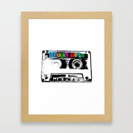 Mixed Tape Cassette Framed Art Print