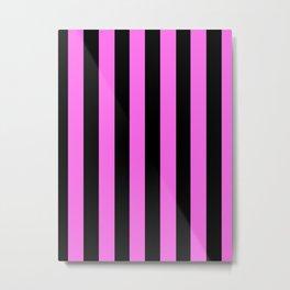 Black and rose Stripes Metal Print