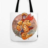 kit king Tote Bags featuring Monkey King by Kit Seaton