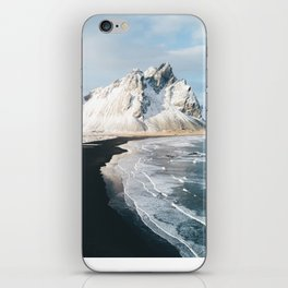 Iceland Mountain Beach - Landscape Photography iPhone Skin