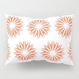 Coral Modern Sunbursts Pillow Sham