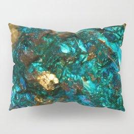 Teal Oil Slick and Gold Quartz Pillow Sham
