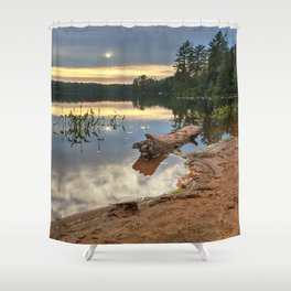 Nicks Lake Sunset Shower Curtain