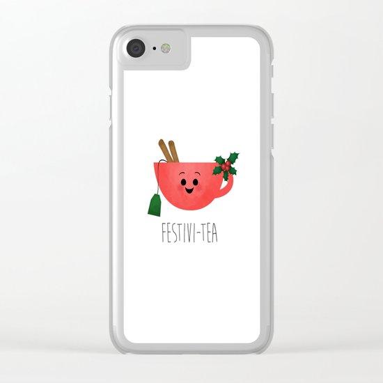 Festivi-tea Clear iPhone Case