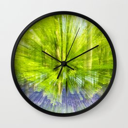 Rushing through thebluebells Wall Clock