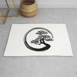 Enso Zen Circle and Bonsai Tree Rug