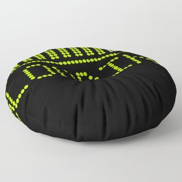 Green Loading Time Bar Floor Pillow