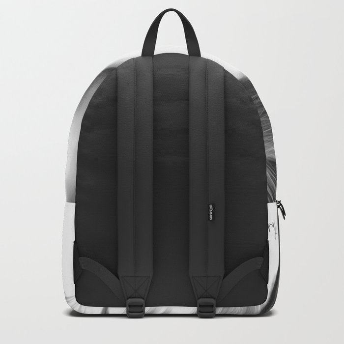 Emma Stone minimalist digital portrait Backpack