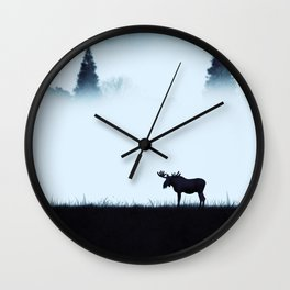The moose - minimalist landscape Wall Clock