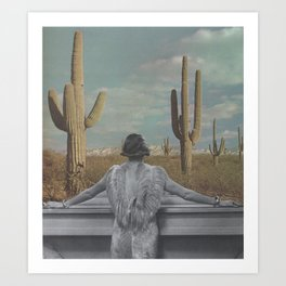 The Cactus View Art Print