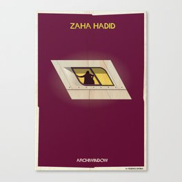 zaha hadid_windows Canvas Print