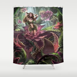 Corrupted flower Shower Curtain
