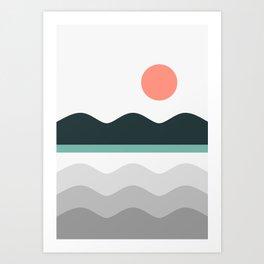Abstract Landscape 05 Art Print