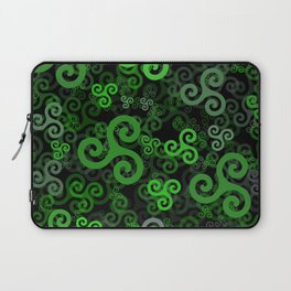 Triskele triskelion in green Laptop Sleeve