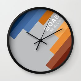 The colors of climbing spots - MOAB Wall Clock