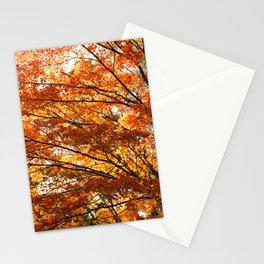 Maple tree foliage Stationery Cards