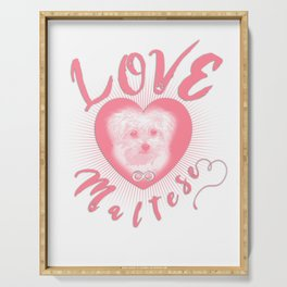 Maltese Dog Puppy Endless Love pw Serving Tray