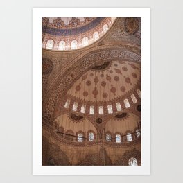 Sultan Ahmed Mosque Art Print