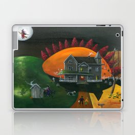 Hilly Haunted House Laptop & iPad Skin
