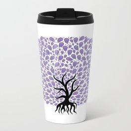 Violet Tree Burst Metal Travel Mug