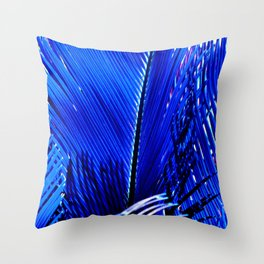 Sapphire Palm Throw Pillow