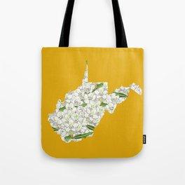 West Virginia in Flowers Tote Bag