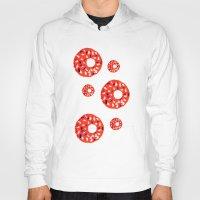 doughnut Hoodies featuring Doughnut by Myles Hunt