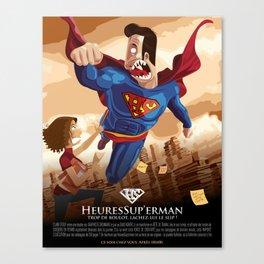 HeuresSup'erman Canvas Print