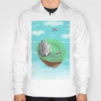 castle in the sky Hoodies featuring Sky Castle by wkdowd