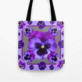 LILAC PURPLE PANSIES GARDEN Tote Bag
