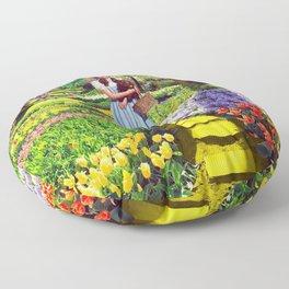 Follow the yellow brick road Floor Pillow
