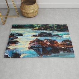 Toby Waters creek painting by Dennis Weber / ShreddyStudio Rug