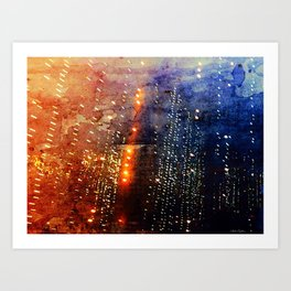 Fire Showers Art Print
