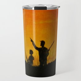 Father and Son on a Hunt Travel Mug