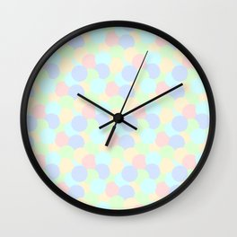 Colored polka dot pattern Wall Clock