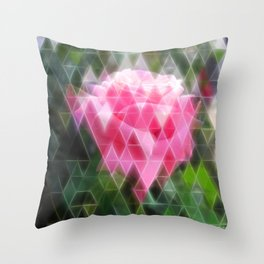 Pink Roses in Anzures 6 Art Triangles 2 Throw Pillow