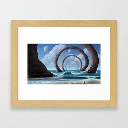 Shore of Stone Rings Framed Art Print