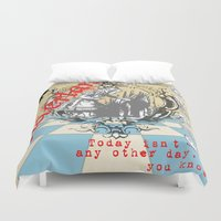 alice wonderland Duvet Covers featuring Wonderland by TooShai Studios