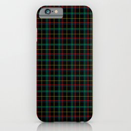 Red and green plaid iPhone Case