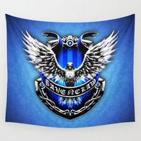 ravenclaw Wall Tapestries featuring HARRY POTTER RAVENCLAW by Veylow