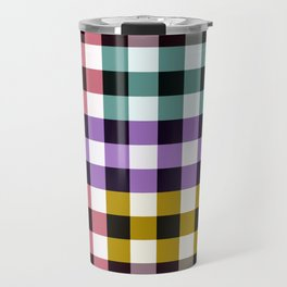 Colorful Gradient Checkerboard Pattern Travel Mug