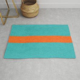aqua and orange classic Rug