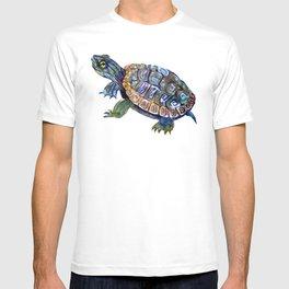 Slider Baby Turtle artwork T-shirt