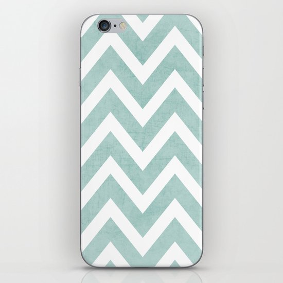 robins egg blue chevron iPhone & iPod Skin