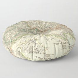 Vintage Map of The Roman Empire (1844) Floor Pillow