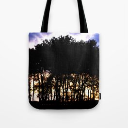 Prairie trees at Sunset Tote Bag