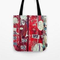 graffiti Tote Bags featuring Graffiti by Limmyth