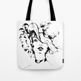 The lady with the hat Tote Bag
