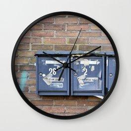 Mailboxes Wall Clock